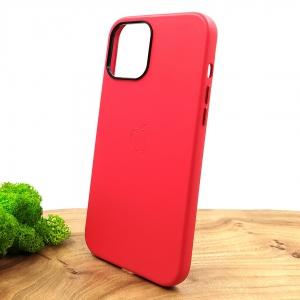 Оригинальный кожаный чехол-накладка Molan Leather Case для IPHONE 12(6.7) Red