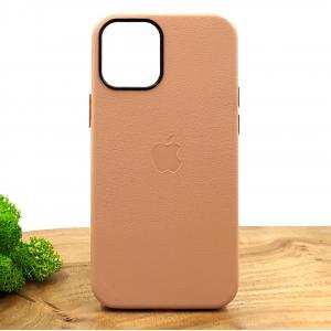 Оригинальный кожаный чехол-накладка Molan Leather Case для IPHONE 12(5.4) Powdery