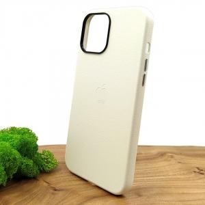 Оригинальный кожаный чехол-накладка Molan Leather Case для IPHONE 12(5.4) White