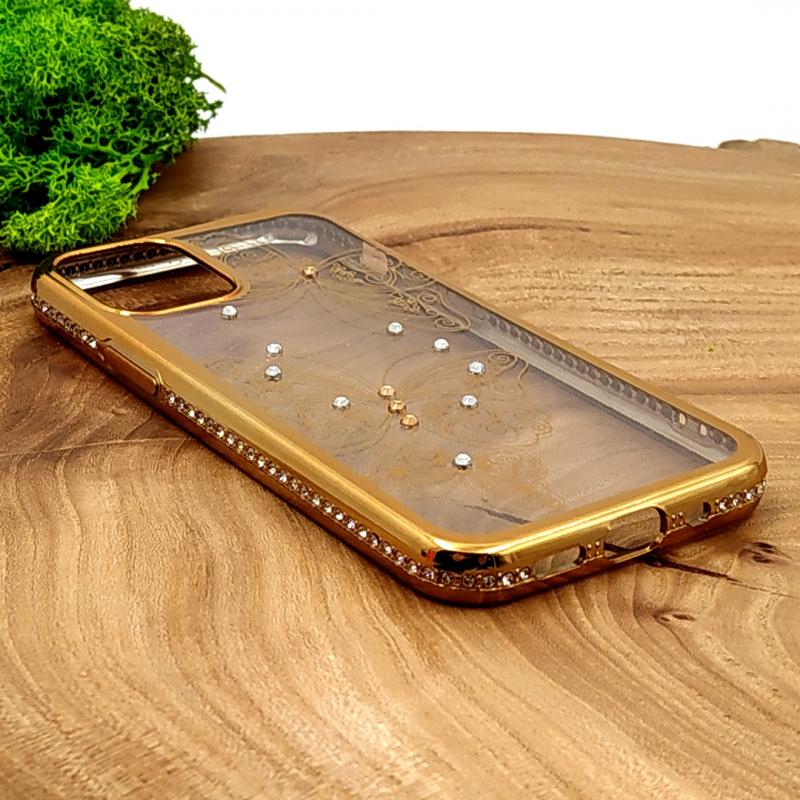 Силиконовый чехол Kings Bar со стразами для Iphone 12(5.4) Butterfly