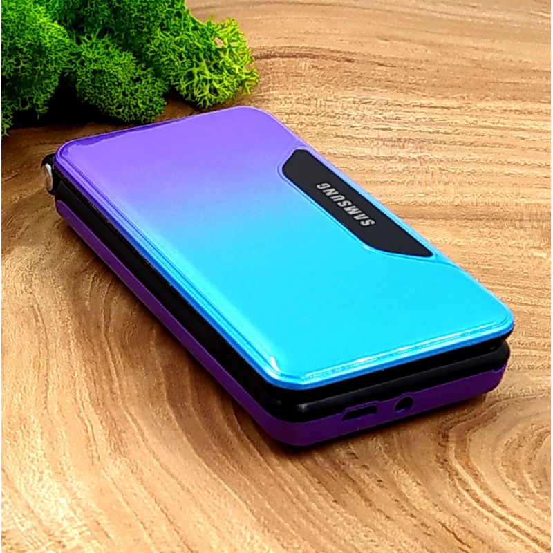 NEW Тел. Flip Раскладушка Samsung T668-2021 VIBRO Violet Blue