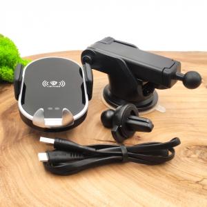 NEW Держ Lenyes AUTO Wireless Charging 10w(торп+реш) MHW011 Black