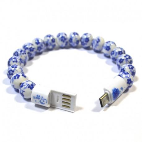 Переходник-браслет бусы PMMA USB - Micro USB