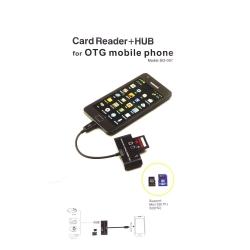 OTG V8 Card Reader 3в1 (картридер/переходник)