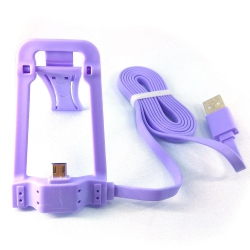 Подставка для телефона Casni CN-801 с Micro USB - USB кабелем 1м Purple (Фиолетовый)