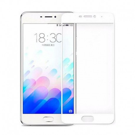 Защитное стекло Full Glue Glass Meizu M6 White (Белый)