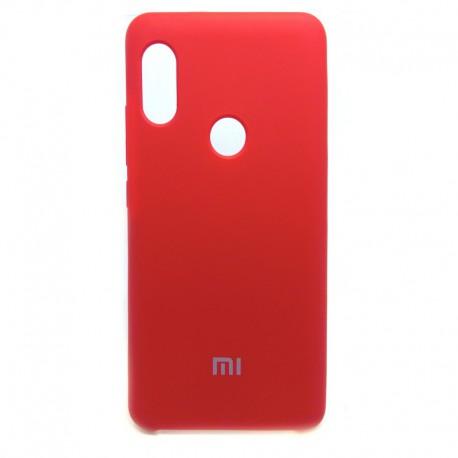 Силиконовый чехол (silicone case) Xiaomi Redmi Note 5 Red (Красный)