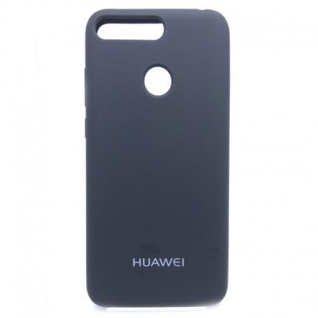 Силиконовый чехол (silicone case) Huawei Y6 2018 Black (Черный)