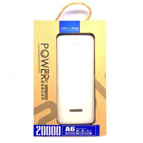 Power Bank VIPTEK A6 20000 mAh White (Белый)