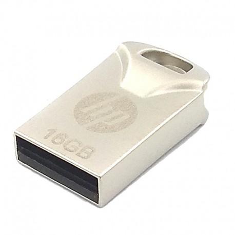 USB Флеш память HP Slim Metal Сompact 16 ГБ Silver (Серебряный)