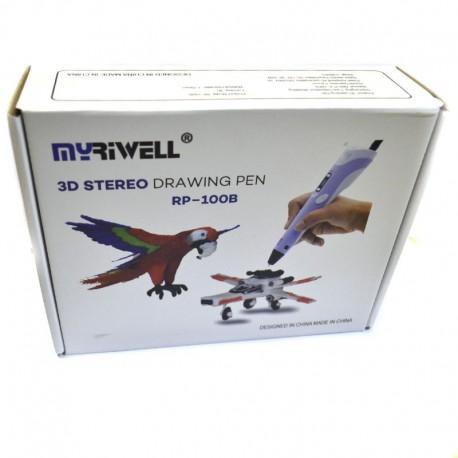 3D Ручка Myriwell RP-100B С LED Экраном Pink (Розовый)