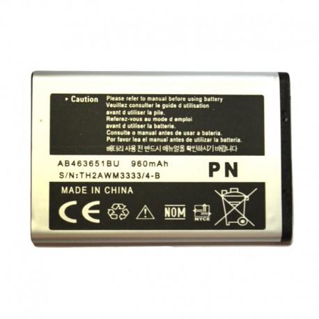 Аккумуляторная батарея для Samsung B3410/C3060/F400/J808E/L708E/ZV60 AB463651BU 960 mAh