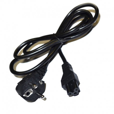 Кабель сетевой 220V для блока питания ноутбука, 3-pin 1 м