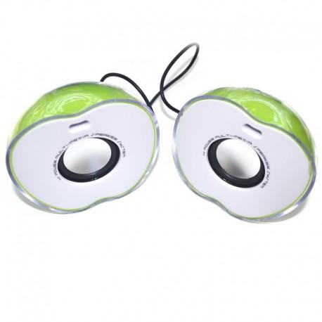 Колонки для ноутбука Яблоко 2х3Вт M12 Green (Зеленый)