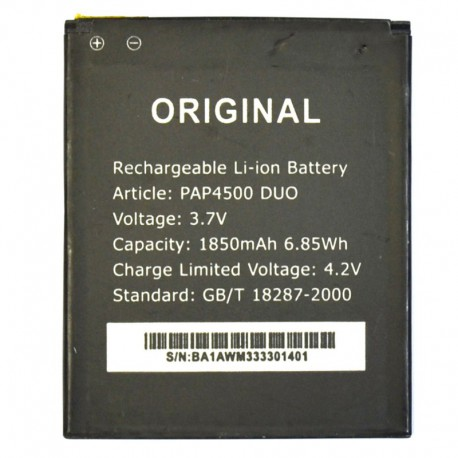 Аккумуляторная батарея для Prestigio MultiPhone 4500 Duo PAP4500 DUO 1850 mAh