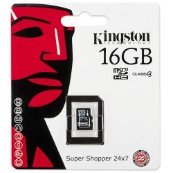 Карта памяти Kingston micro SD 16 Gb 4 Class