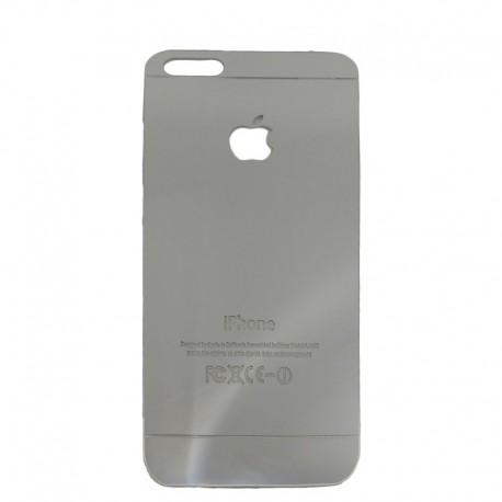 Защитное стекло Glass Rock Back iPhone 5G/5S/5SE Silver (Серебряный)